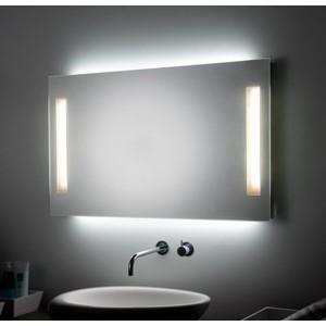SPECCHIERA BAGNO 2 LUCI LATERALI T5 + LUCI AMBIENTE LED - H2O ...